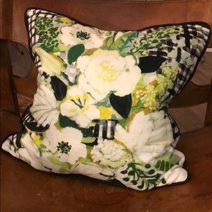 Anthropologie Floral Throw Pillow